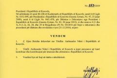 VENDIMI-PRESIDENTIT-PER-TITULLIN-AMBASADOR-NDERIT-REPUBLIKES-KOSOVES-ME-04.-10.-2019-page-001